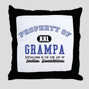 Property of Grampa Throw Pillow